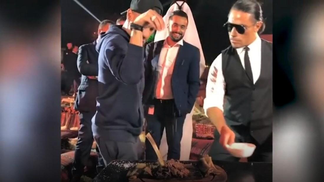 Neymar y la técnica de Salt Bae