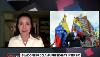 Corina Machado: Las fuerzas armadas tienen conflictos internos