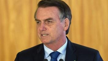 El presidente de Brasil, Jair Bolsonaro, habla durante una conferencia de prensa conjunta en Brasilia el 16 de enero de 2019. Crédito: EVARISTO SA / AFP / Getty Images