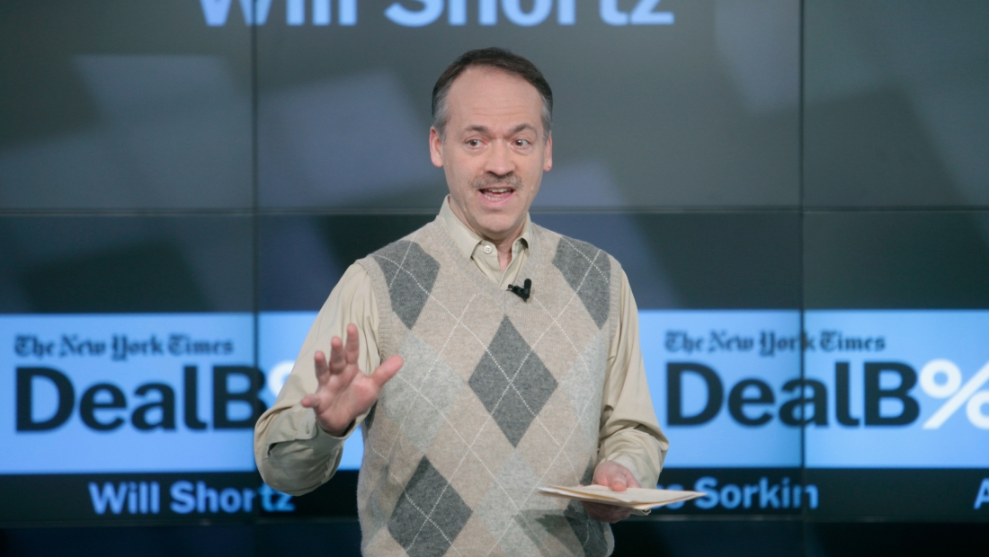 NEW YORK, NY - DECEMBER 11: The New York Times Crossword Editor Will Shortz speaks onstage during The New York Times DealBook Conference at One World Trade Center on December 11, 2014 in New York City. (Photo by Thos Robinson/Getty Images for New York Times)