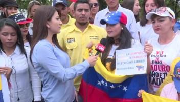 Queremos una Venezuela libre, dice venezolana en Ecuador