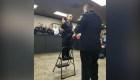 Niña con cáncer juró como oficial de policía honoraria