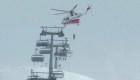 Rescatan a esquiadores en los Alpes italianos