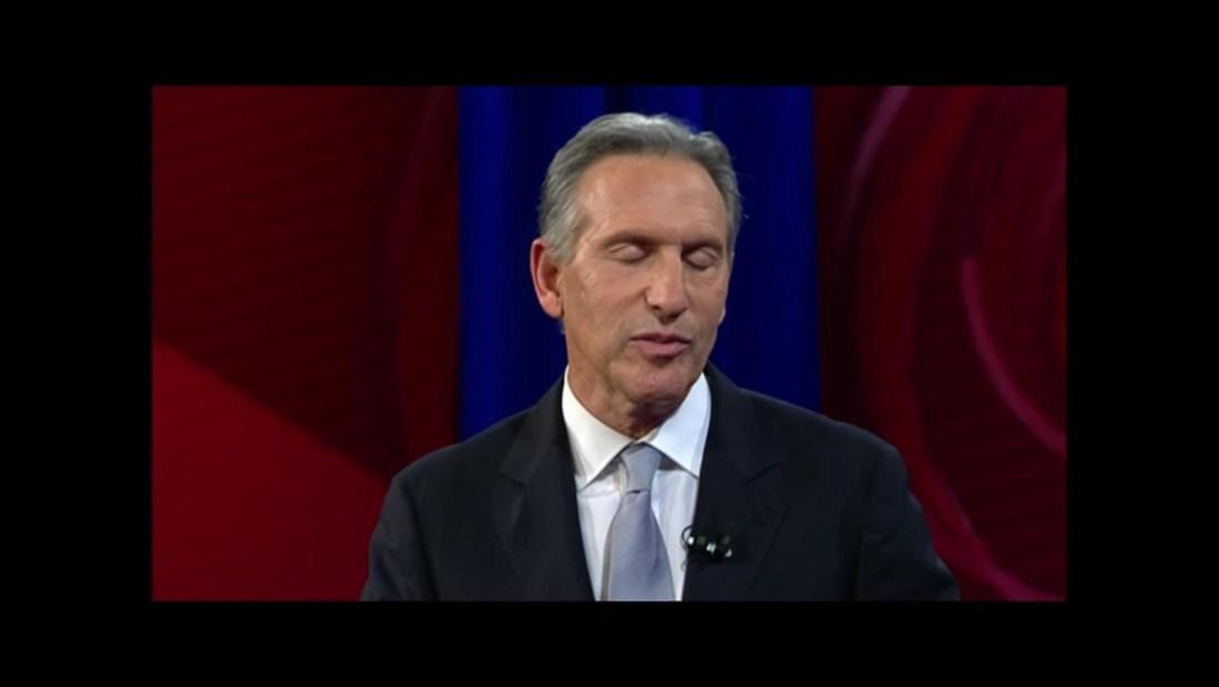 Howard Schultz no aseguró que retiraría su candidatura si favorece a Trump
