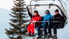 Putin y Lukashenko disfrutan esquiando