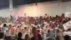 Impactante colapso de una tribuna en Argentina