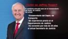 Jeffrey Rosen, designado como vicesecretario de Justicia