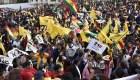 Manifestación en contra de la candidatura de Evo Morales