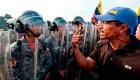 Venezolanos en la frontera exigen el ingreso ayuda humanitaria