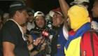 Venezolanos se rehúsan a irse del puente Francisco de Paula Santander