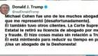 El tuit de Trump durante la audiencia de Cohen en el Congreso