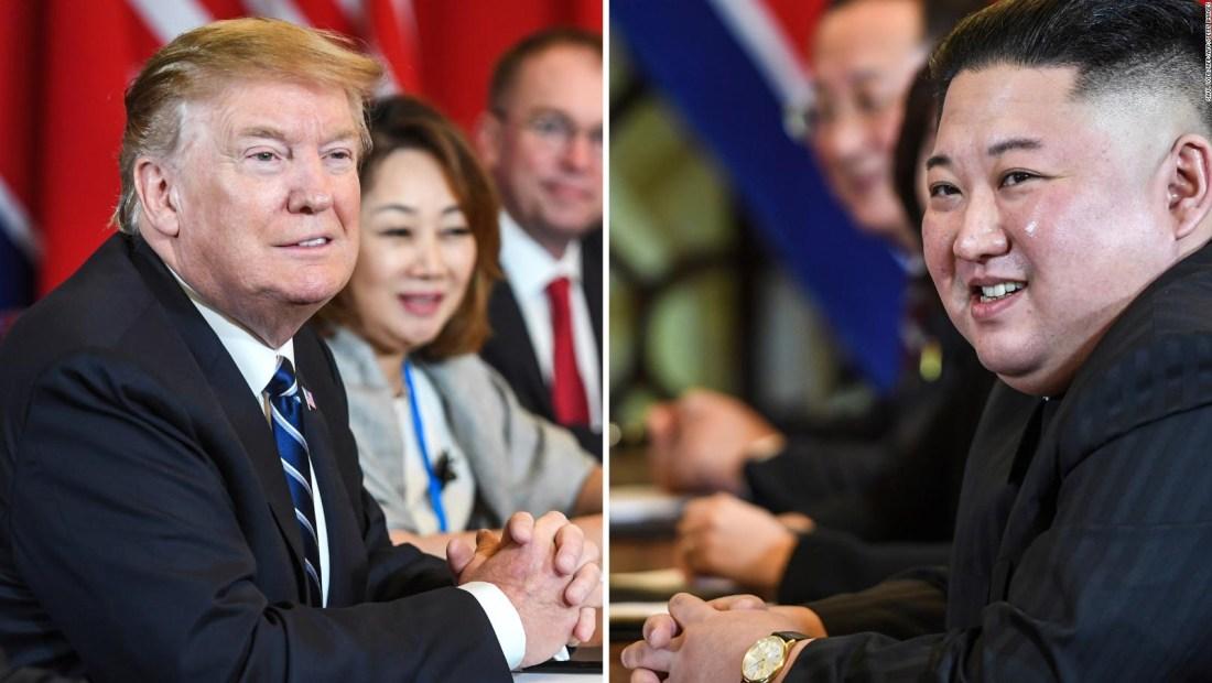 Trump y Kim muestran optimismo en último día en Vietnam