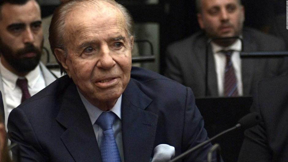 Menem, absuelto del juicio por encubrimiento del atentado a la AMIA