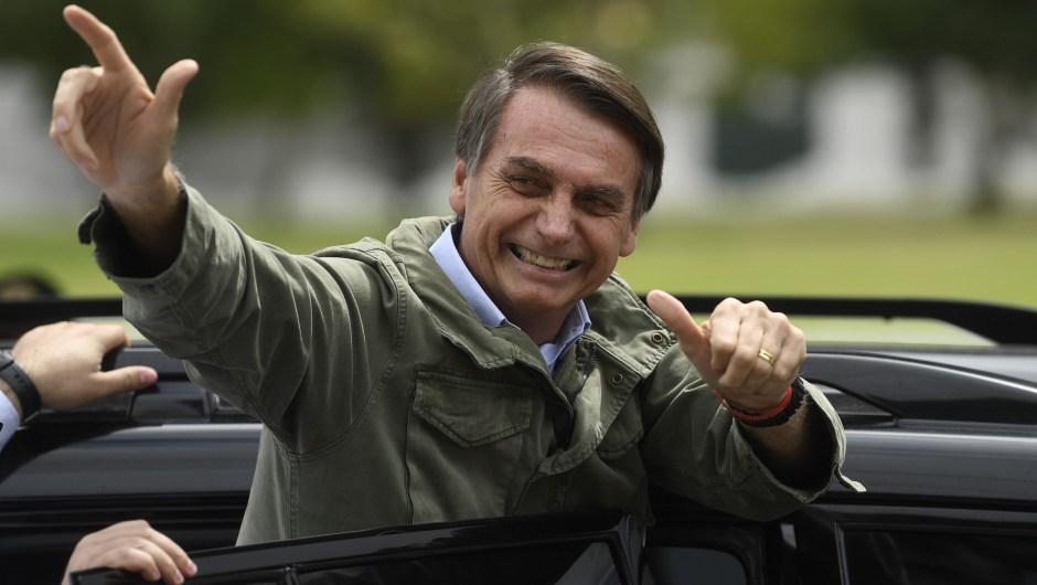 Jair Bolsonaro en una foto en Río de Janeiro, Brasil, el 28 de octubre de 2018. Crédito: MAURO PIMENTEL / AFP / Getty Images.