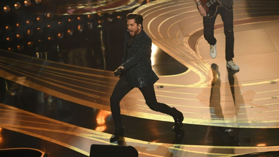 HOLLYWOOD, CALIFORNIA - FEBRUARY 24: Adam Lambert and Queen onstage during the 91st Annual Academy Awards at Dolby Theatre on February 24, 2019 in Hollywood, California. (Photo by Kevin Winter/Getty Images)