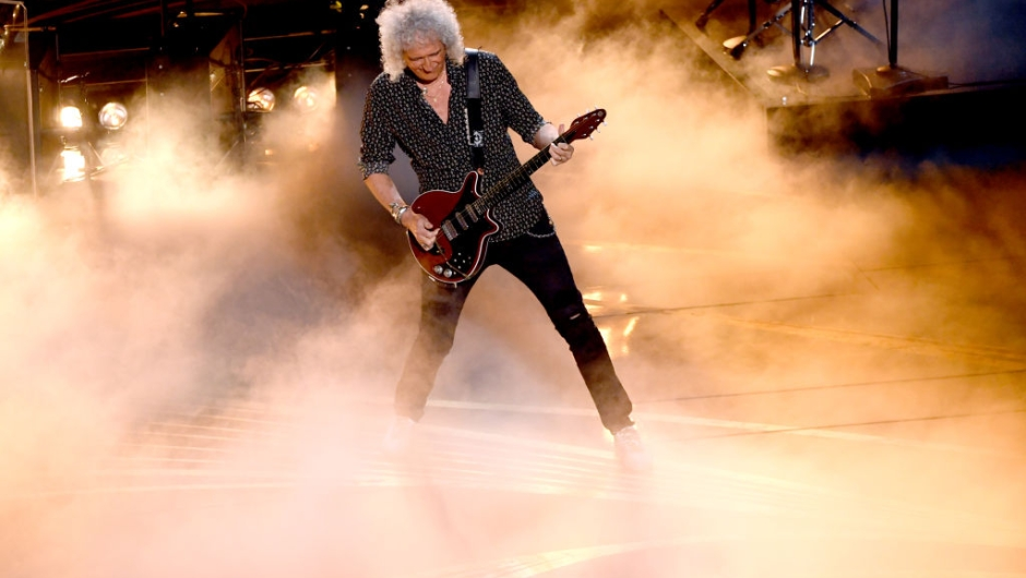 HOLLYWOOD, CALIFORNIA - FEBRUARY 24: Brian May of Queen performs onstage during the 91st Annual Academy Awards at Dolby Theatre on February 24, 2019 in Hollywood, California. (Photo by Kevin Winter/Getty Images)