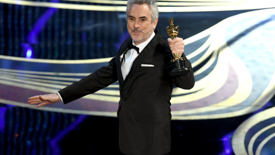 HOLLYWOOD, CALIFORNIA - FEBRUARY 24: Alfonso Cuaron accepts the Cinematography award for 'Roma' onstage during the 91st Annual Academy Awards at Dolby Theatre on February 24, 2019 in Hollywood, California. (Photo by Kevin Winter/Getty Images)