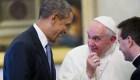 El presidente de Estados Unidos, Barack Obama, se reúne con el papa Francisco el jueves 27 de marzo de 2014 en el Vaticano. Crédito: AP / Pablo Martinez Monsivais