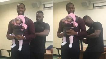 Este padre fue clases con pequeña hija