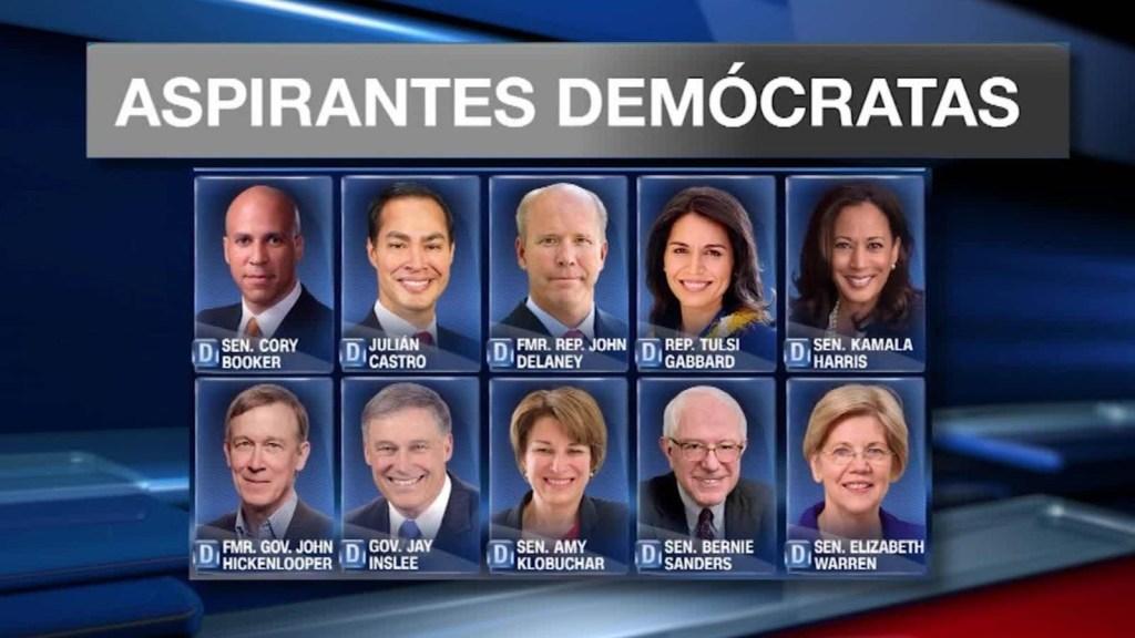 Así va la lista de aspirantes demócratas a la presidencia