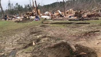 La destrucción que dejaron los tornados en Alabama
