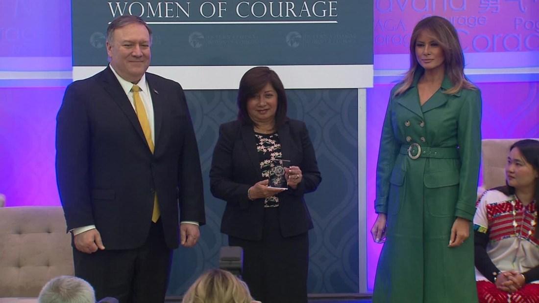 Fiscal peruana gana un premio a las Mujeres de Coraje