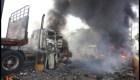 ¿Cómo se incendiaron los camiones con ayuda humanitaria?