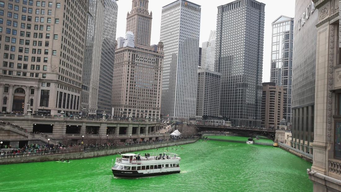 Conoce cómo pintan de verde al río Chicago