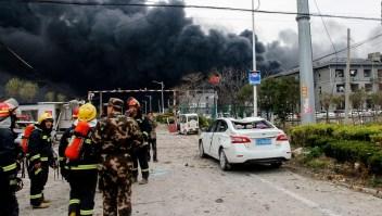 Explosión en un parque industrial en China deja seis muertos