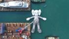 Hong Kong celebra el arte con una enorme escultura inflable