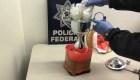 Hallan en México medio kilo de aparente cristal escondido
