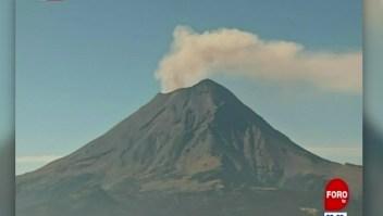 Autoridades elevan alerta volcánica del Popocatépetl