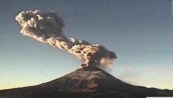 Alerta por explosión en el Popocatépetl