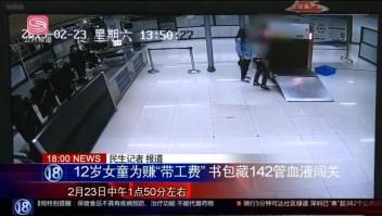 China detiene a niña que llevaba muestras de sangre a Hong Kong