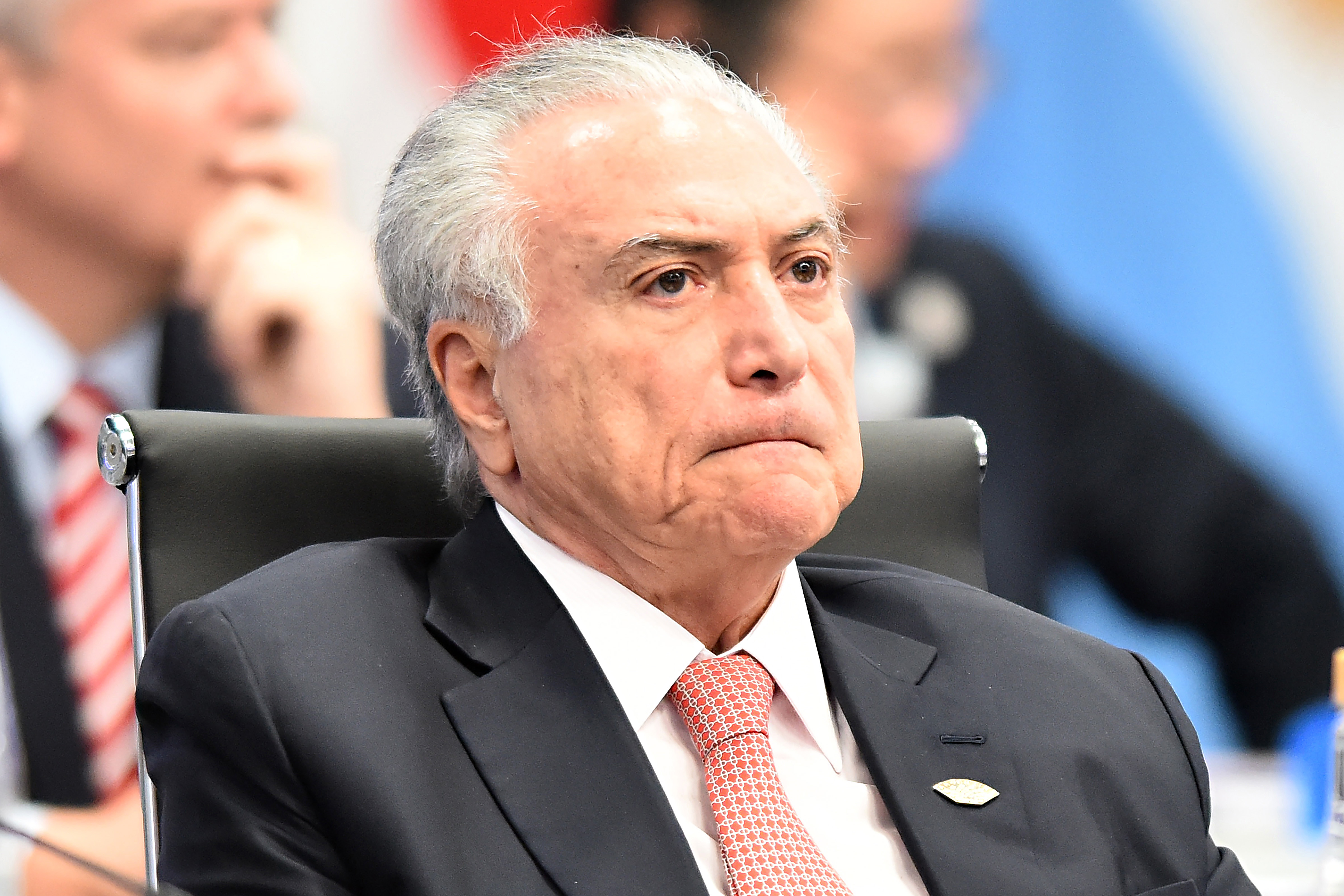 BUENOS AIRES, ARGENTINA - NOVEMBER 30: President of Brazil Michel Temer looks on during the plenary session on the opening day of Argentina G20 Leaders' Summit 2018 at Costa Salguero on November 30, 2018 in Buenos Aires, Argentina. (Photo by Amilcar Orfali/Getty Images)