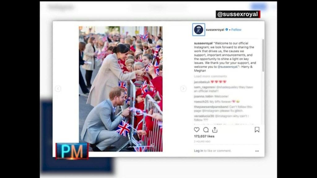 El príncipe Enrique y Meghan Markle en Instagram