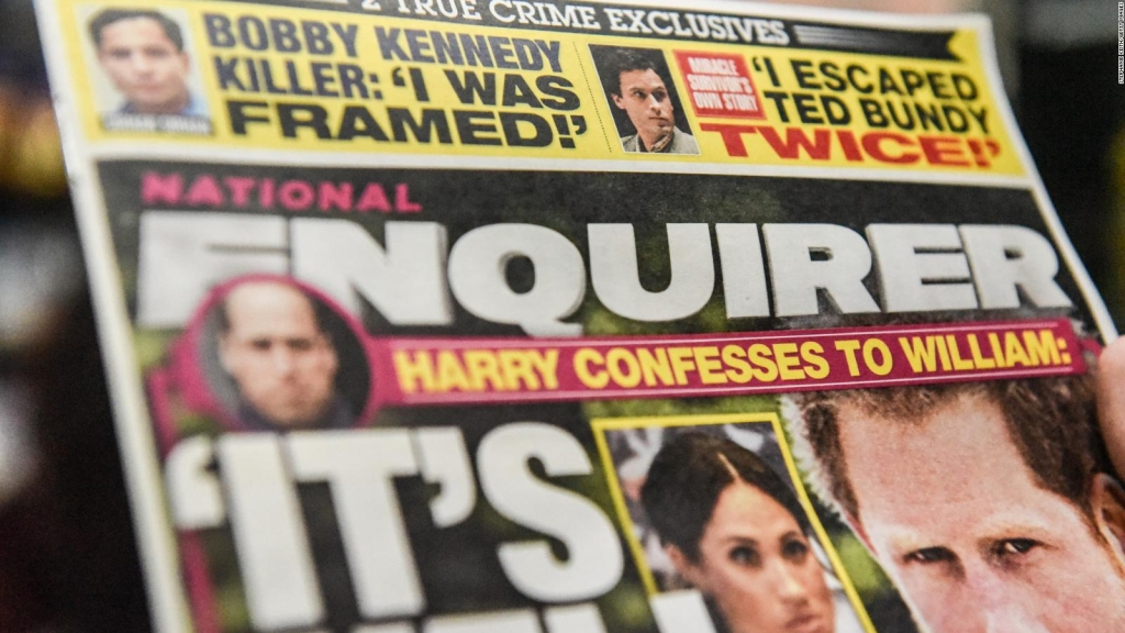 El tabloide National Enquirer se pone a la venta