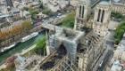 Imágenes aéreas revelan los daños en Notre Dame