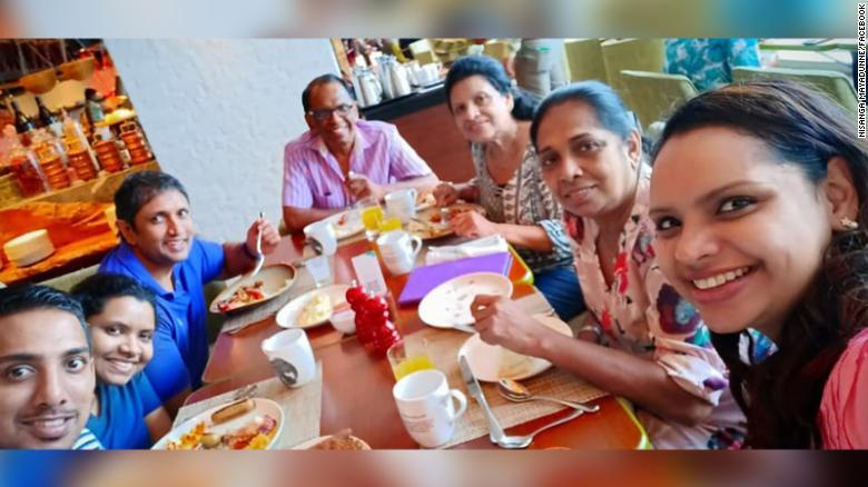 #News: TV chef and daughter killed in Sri Lanka explosion Television chef Shantha Mayadunne and her daughter Nisanga Mayadunne were killed in the explosion at the Shangri-La Hotel, Colombo on Sunday according to two immediate family members. From CNN??s Angus Watson in Hong Kong SSA/Ram Ramgopal