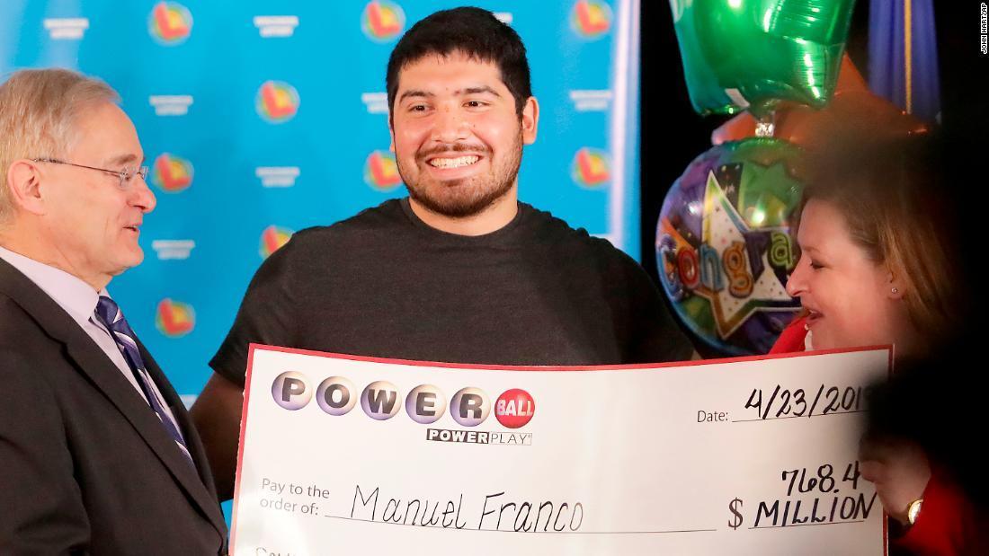 Powerball, Manuel Franco, Winsconsin