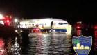 Avión patina y cae al río en Jacksonville, Florida