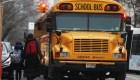 Salvado por la conductora del autobús escolar