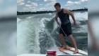 """Las geniales proezas de Steel Lafferty sobre la tabla de """"wakeboard"""""""