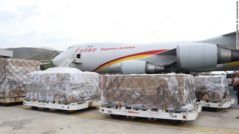 Avión, carga, China, Venezuela