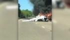 Rescate en un avión en llamas