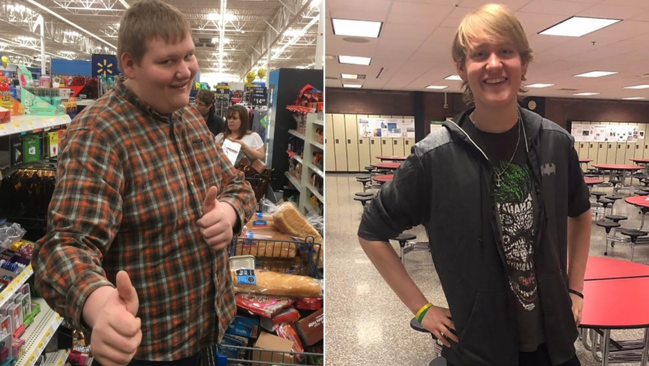 El antes y después de Michael Watson, que se decidió a caminar y cambiar de dieta y hoy día es un joven con alta estima.