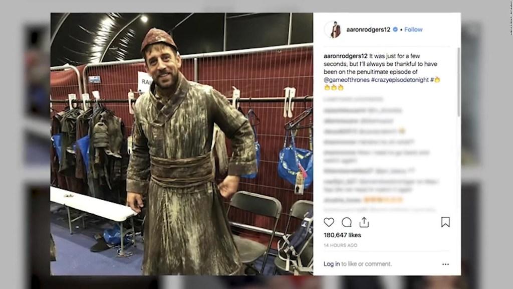"""Rodgers fue invitado a participar en """"Game of Thrones"""""""