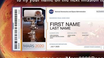 Nombres NASA rover Marte