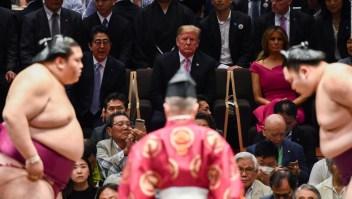 La visita de Trump a una competencia de sumo