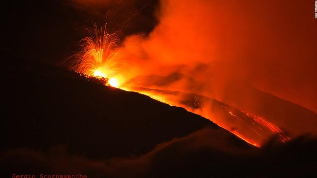 La erupción del monte Etna dejó estas imágenes
